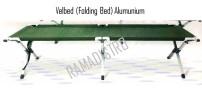 Velbed(folding bed) lipat Alumunium standart tni